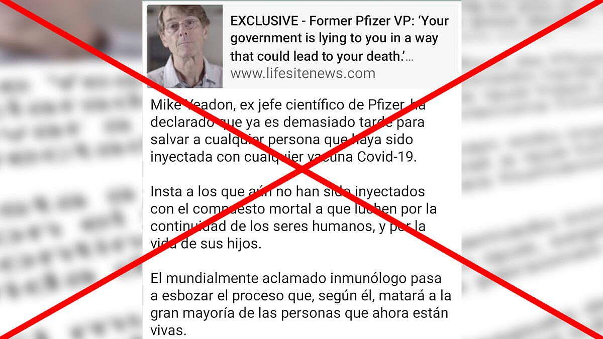 Falso: ¿0.8% de los vacunados contra el COVID-19 morirá en dos semanas y ninguno vivirá más de 3 años?
